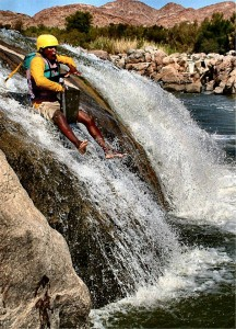 Bumslide on Orange river trip